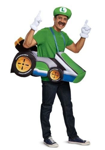 Click Here to buy Super Mario Kart: Luigi Ride In Costume from HalloweenCostumes, CDN Funds & Shipping