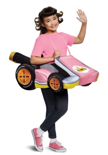 Child Super Mario Kart: Princess Peach Ride In Costume