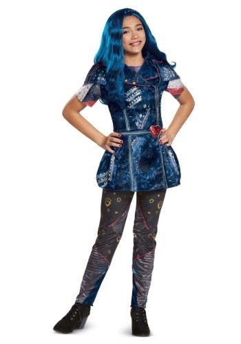 Click Here to buy Descendants 2 Classic Evie Kids Costume from HalloweenCostumes, CDN Funds & Shipping