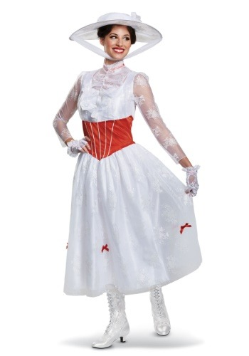 Click Here to buy Deluxe Adult Mary Poppins Womens Costume from HalloweenCostumes, CDN Funds