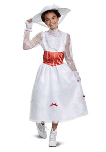 Click Here to buy Deluxe Girls Mary Poppins Costume from HalloweenCostumes, CDN Funds & Shipping