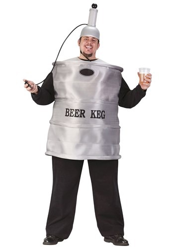 Click Here to buy Plus Size Beer Keg Costume from HalloweenCostumes, CDN Funds & Shipping
