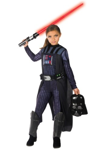 Click Here to buy Girls Darth Vader Costume from HalloweenCostumes, CDN Funds & Shipping