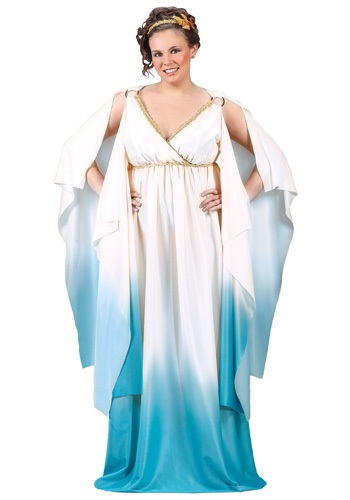 Click Here to buy Plus Size Greek Goddess Costume from HalloweenCostumes, CDN Funds & Shipping