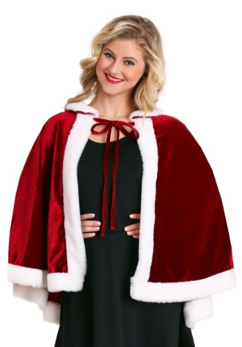 Click Here to buy Mrs. Claus Christmas Cloak from HalloweenCostumes, CDN Funds & Shipping