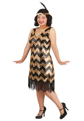 Plus Size Dolled Up Flapper Costume for Women