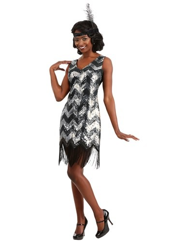 Click Here to buy Shimmer Flapper Womens Costume from HalloweenCostumes, CDN Funds & Shipping