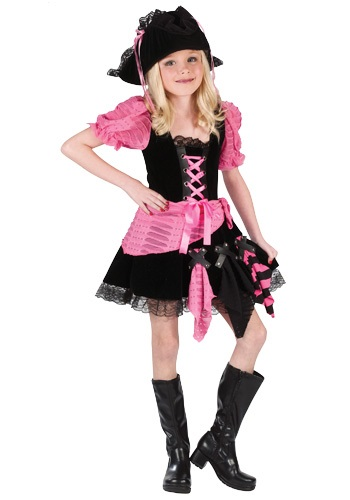 Kids Pink Pirate Costume - Child Pirate Costumes Girl