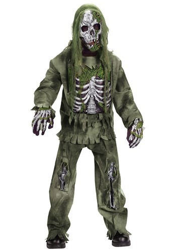 Click Here to buy Kids Skeleton Zombie Costume from HalloweenCostumes, CDN Funds & Shipping