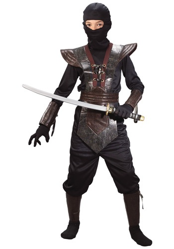 Click Here to buy Kids Leather Ninja Costume from HalloweenCostumes, CDN Funds & Shipping