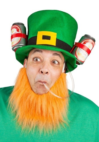 Click Here to buy St. Patricks Lucky Leprechaun Drinking Hat from HalloweenCostumes, CDN Funds & Shipping