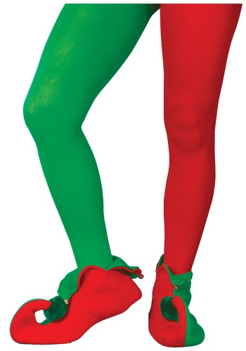 Click Here to buy Red and Green Elf Tights from HalloweenCostumes, CDN Funds & Shipping
