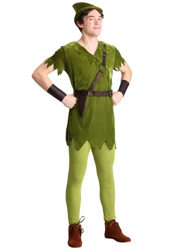 Click Here to buy Classic Peter Pan Adult Costume | Storybook Character Costumes from HalloweenCostumes, CDN Funds & Shipping