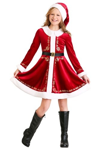 Click Here to buy Girls Santa Dress Costume from HalloweenCostumes, CDN Funds & Shipping