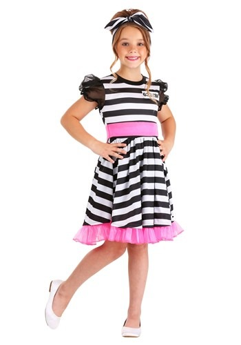 Click Here to buy Glam Prisoner Costume Girls from HalloweenCostumes, CDN Funds & Shipping