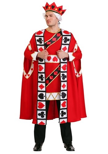 Plus Size King of Hearts Costume Mens