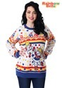 Classic Rainbow Brite Adult Ugly Christmas Sweater Alt