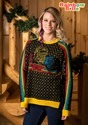 Womens Hi-Lo Rainbow Brite Ugly Christmas Sweater
