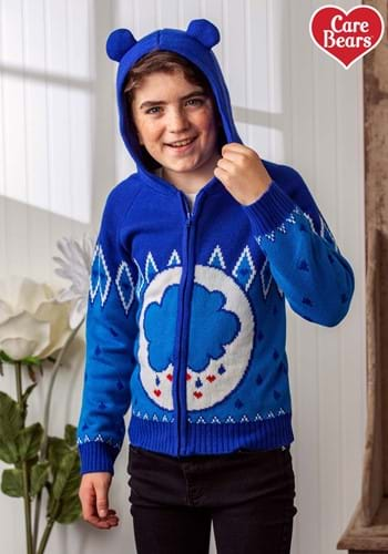 Child Care Bears Grumpy Bear Zip Up Knit Sweater