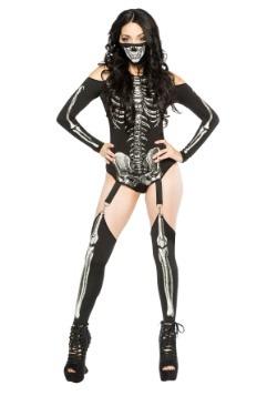 Skeleton Bodysuit Women's Costume