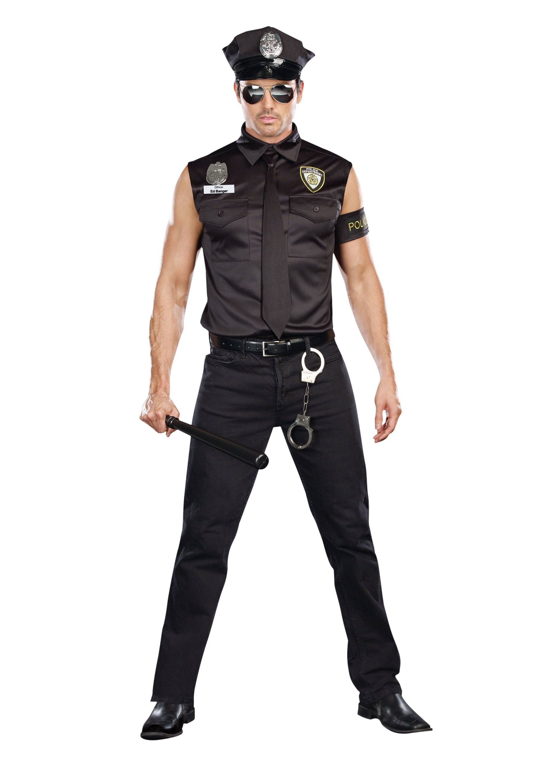 Sexy Cop Plus Size Costume For Men-8987