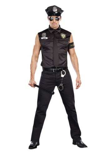 Click Here to buy Sexy Cop Plus Size Mens Costume from HalloweenCostumes, CDN Funds & Shipping