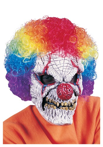 Click Here to buy Adult Clown Mask with Wig from HalloweenCostumes, CDN Funds & Shipping