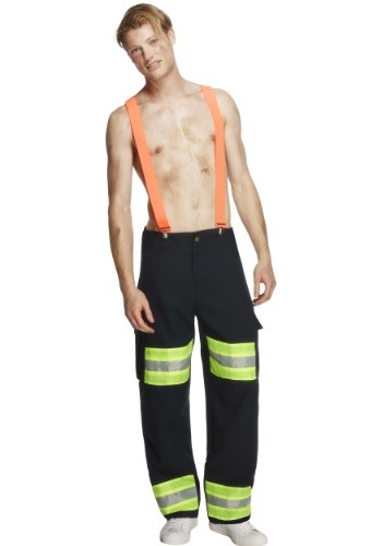 Click Here to buy Blazing Hot Firefighter Mens Costume from HalloweenCostumes, CDN Funds & Shipping