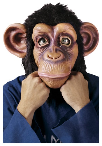 Click Here to buy Deluxe Chimp Mask from HalloweenCostumes, CDN Funds & Shipping