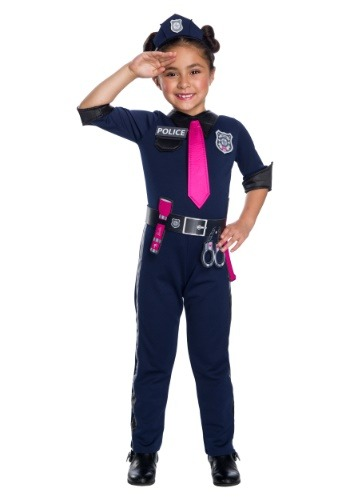 Click Here to buy Barbie Police Officer Girls Costume from HalloweenCostumes, CDN Funds & Shipping