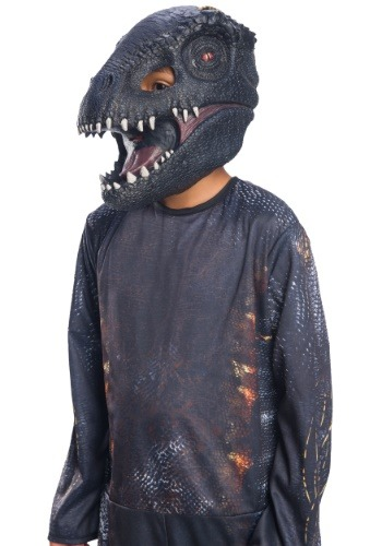 Click Here to buy Jurassic World 2 Villain Dinosaur 3/4 Kids Mask from HalloweenCostumes, CDN Funds & Shipping