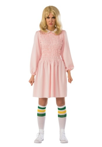 Click Here to buy Stranger Things Eleven Dress Womens Costume from HalloweenCostumes, CDN Funds & Shipping