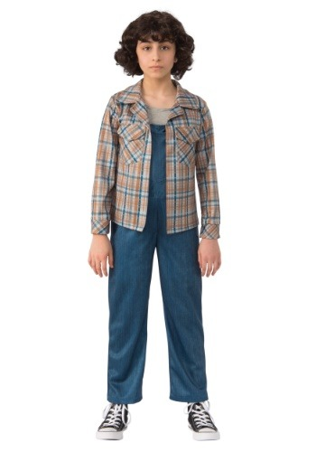Click Here to buy Stranger Things Eleven Plaid Kids Shirt from HalloweenCostumes, CDN Funds & Shipping