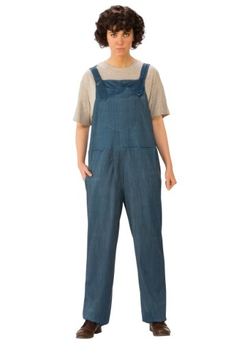 Click Here to buy Stranger Things Eleven Overalls Adult Costume from HalloweenCostumes, CDN Funds & Shipping