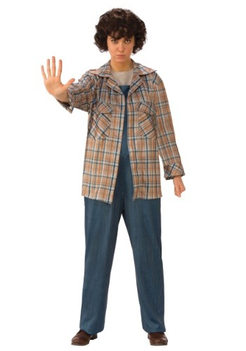 Click Here to buy Stranger Things Eleven Plaid Adult Shirt from HalloweenCostumes, CDN Funds & Shipping