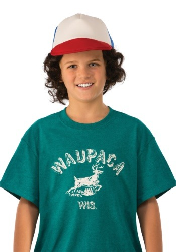 Click Here to buy Kids Stranger Things Dustin Waupaca Shirt from HalloweenCostumes, CDN Funds & Shipping