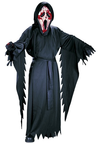 Click Here to buy Bleeding Ghost Face Kids Costume from HalloweenCostumes, CDN Funds & Shipping