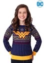 Kid's Wonder Woman Navy Ugly Christmas Sweater Alt 2