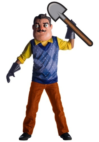 Click Here to buy Deluxe Hello Neighbor Kids Costume from HalloweenCostumes, CDN Funds & Shipping