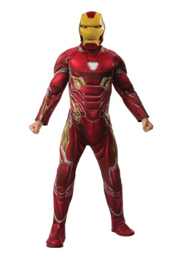 Click Here to buy Marvel Infinity War Deluxe Iron Man Mens Costume from HalloweenCostumes, CDN Funds & Shipping