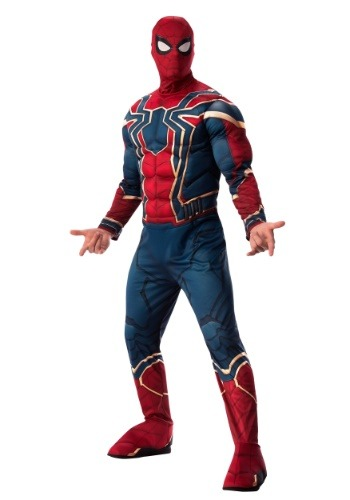 Click Here to buy Marvel Infinity War Deluxe Adult Iron Spider Costume from HalloweenCostumes, CDN Funds