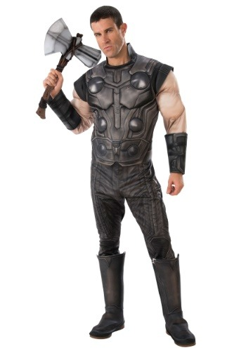 Click Here to buy Deluxe Thor Marvel Infinity War Adult Costume from HalloweenCostumes, CDN Funds