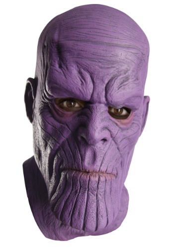 Click Here to buy Marvel Avengers Infinity War Thanos Latex Mask for Men from HalloweenCostumes, CDN Funds & Shipping