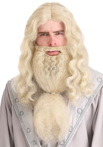 Click Here to buy Headmaster Wizard Wig and Beard for Adults from HalloweenCostumes, CDN Funds & Shipping
