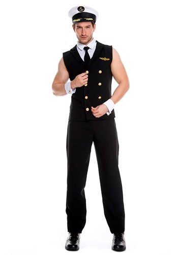 Click Here to buy Mens Sexy Airline Pilot Costume from HalloweenCostumes, CDN Funds & Shipping