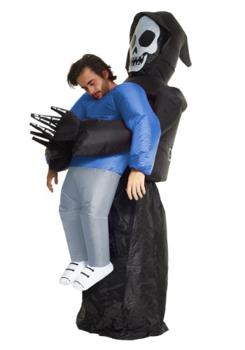 Click Here to buy Inflatable Grim Reaper Pick Me Up Costume for an Adult from HalloweenCostumes, CDN Funds & Shipping