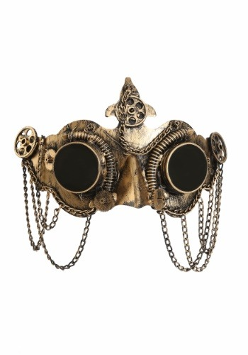Click Here to buy Deluxe Steampunk Goggles Mask from HalloweenCostumes, CDN Funds & Shipping