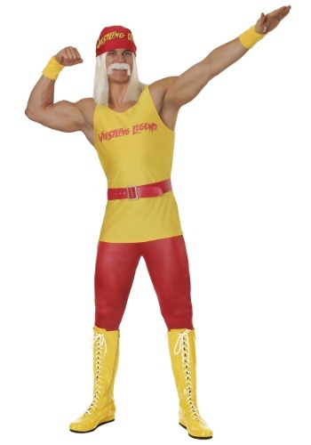 Plus Size Mens Wrestling Legend Costume