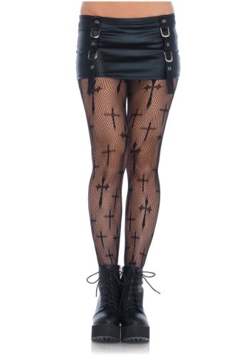 Click Here to buy Plus Size Cross Net Tights from HalloweenCostumes, CDN Funds & Shipping