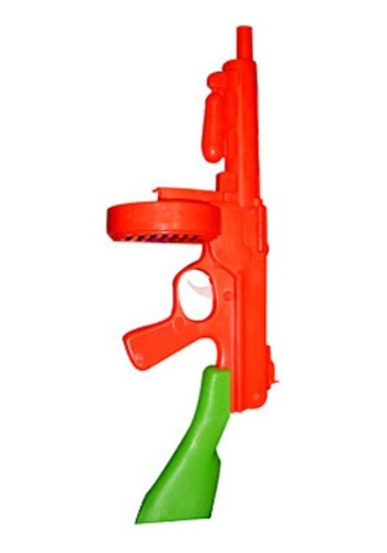 Click Here to buy Orange/Green Tommy Gun from HalloweenCostumes, CDN Funds & Shipping